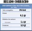 Helado Corbacho Valor nutricional
