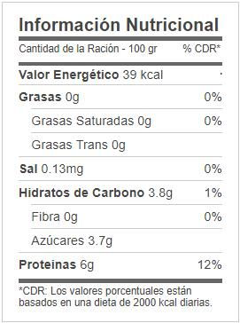 informacion nutricional gelatina mas proteina mercadona