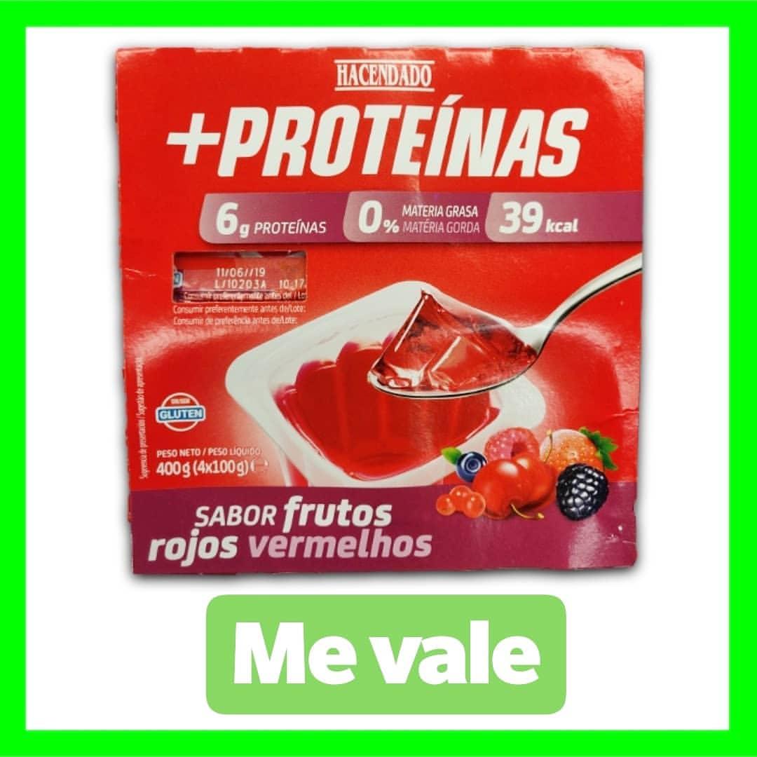 gelatina + proteinas mercadona hacendado frutos rojos